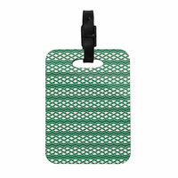 "KESS Original ""Celtic - Texture"" Green White Decorative Luggage Tag"