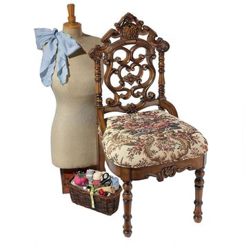 Victorian Sewing Stool Petite Chair