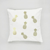 Gold Pineapple Pillow, Pineapple  Pattern Pillow, Home Decor, Cushion Cover, Throw Pillow, Bedroom Decor, Modern Pillow, Bed Pillow,