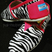 Painted Perfect — Zebra Print TOMS w/ Pink Trim