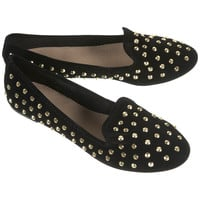 VECTRA5 Gold Studded Slippers - Flats - Shoes - Topshop USA