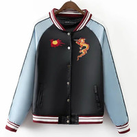 Sports On Sale Hot Deal Autumn Star Embroidery Jacket Tops Baseball [8511505351]