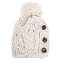 Off White Paula Knitted Pom Beanie
