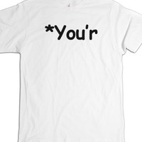Your correction-Unisex White T-Shirt