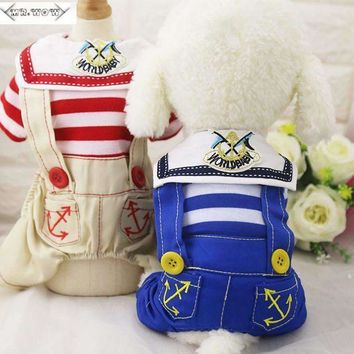 Pet Dog Clothes Coat Puppy Hoodies Clothing Cute Clothing for Small Dog Sportswear Cat Outfit Spring and summer navy coat