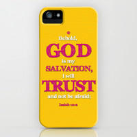 TRUST and not be afraid iPhone & iPod Case by Peter Gross