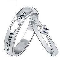 Endless Love Matching Heart Wedding Couple Ring
