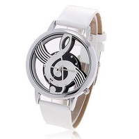 Fashionable Music Symbol Patterned Casual watches Bolun Brand Women dress watches Leather Strap Quartz WristWatches Ladies watch = 1956699780