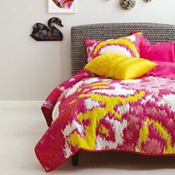 Girls Bedding: Pink Pixel Paisley Bedding in Girl Bedding | The Land of Nod