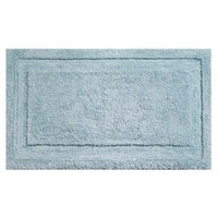 InterDesign Microfiber Spa Bathroom Accent Rug, 34 x 21, Water