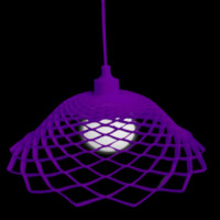 Modern Silica Gel Net Model Lamp Purple - Wonderful Lights