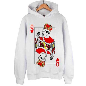 Freddie Mercury Hoodies Top Sweater Pullover
