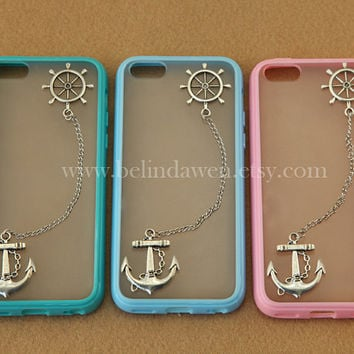 Anchor and rudder iphone 5c case, Samsung Galaxy S2 S3 S4 note 2 note 3 case, iphone 4 4s 5 5s 5c case