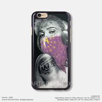Marilyn Monroe Lakers Tattoo iPhone Case Black Hard case 807