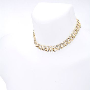 "Jewelry Kay style Men's Women's Fashion Heavy Iced Out 15 mm CZ Stoned 16"" Cuban Chain Necklace"