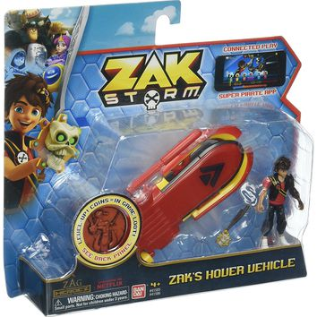 Zak Storm Zak's Hover Vehicle with Blazz Zak Action Figure and Collectible Treasure Coin