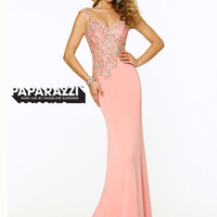 Sweetheart Beaded Floor Length Paparazzi Prom Dress By Mori Lee 97016
