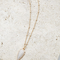 Faux Stone Arrowhead Necklace