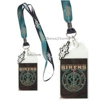 Licensed cool Sleeping With Sirens SWS Band Logo Lanyard ID Card Holder Neck Strap Logo Charm