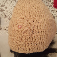 "L/XL ""Handmade"" Crochet Beanie. Ready to Ship"