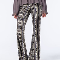Full Tilt Ethnic Medallion Womens Flare Pants Blue Combo  In Sizes