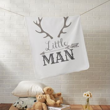 Grey Little Man Blanket
