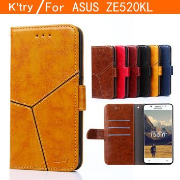 For Asus Zenfone 3 ZE520KL Case Cover Luxury Flip PU Leather Wallet Stand Phone Case Cover For Asus Zenfone 3 ZE520KL