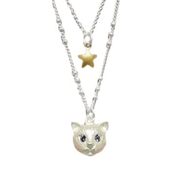 Lovely Cat and Star Necklace