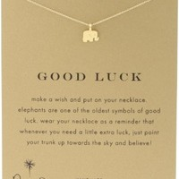 "Dogeared Reminder ""Good Luck"" Gold Dipped Boxed Elephant Pendant Necklace:Amazon:Jewelry"
