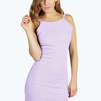 Petite Rachel Ribbed Scoop Back Bodycon Dress