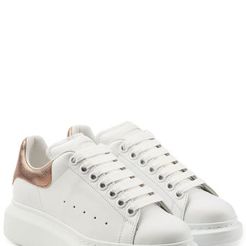 Leather Sneakers - Alexander McQueen | WOMEN | US STYLEBOP.com