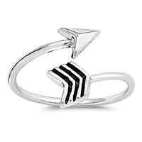 Sterling Silver Arrow Toe Ring/ Knuckle/ Mid-Finger 9MM