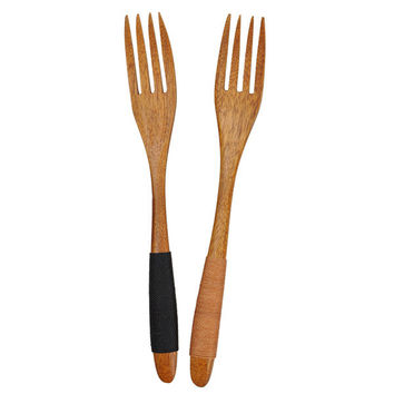 Dessert Wood Serving Fork