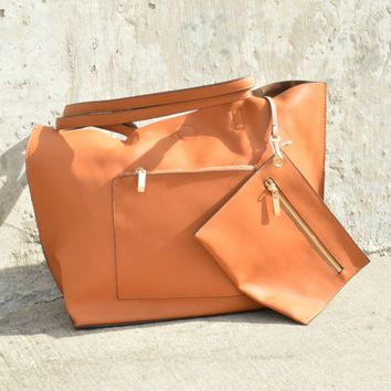 Catch You Later Tote - Brown