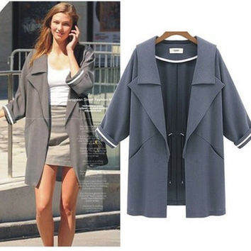 Fashion Autumn Women Outerwear Jacket Windbreaker a13042