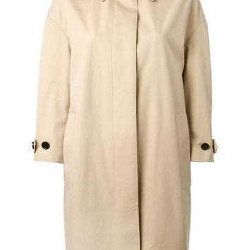 ONETOW Burberry London gold collar trench coat