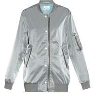 Varden satin oversized bomber jacket | Acne Studios | MATCHESFASHION.COM US