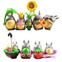 9pcs Studio Ghibli Toy Hayao Miyazaki Resin Totoro Miniatures Garden Action Figure Set Japanese Anime Figures Kids Toys Gift