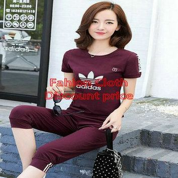 adidas Originals Sports Suit Odell Cotton For Women M-4XL 63009 Red Wine