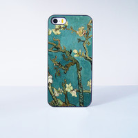 Flower oil painting  Plastic Phone Case For iPhone iPhone 5/5S More Case Style Can Be Selected