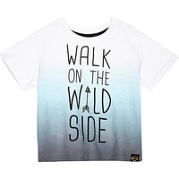 River Island Mini boys blue walk on the wild side t-shirt
