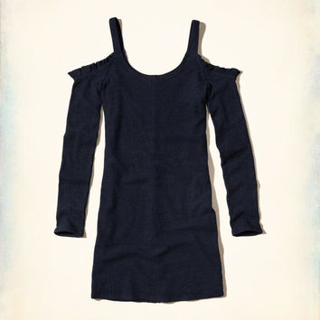 Girls Ruffle Cold Shoulder Bodycon Dress | Girls New Arrivals | HollisterCo.com
