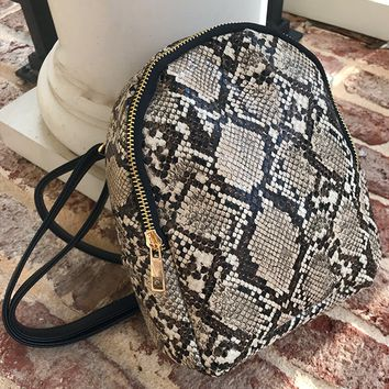 GUILTY PLEASURE SNAKE MINI BACKPACK BAG