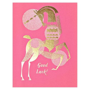 Good Luck Unicorn Greeting Card