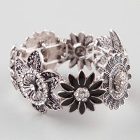 Full Tilt Daisy Flower Bracelet Silver One Size For Women 23452714001