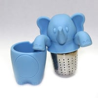 Elephant / Ellie Animal Tea Strainer, Tea Strainer, Loose Leaf, Individual Cup, Tea Steeper, Tea Infuser, Infuser, Infuse Tea, Mug, Tea Time