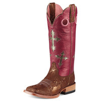 Ariat Metallic Copper-13 Blingin' Pink Top Cowgirl Boots