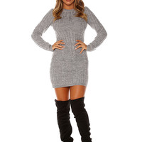 Naked Wardrobe I'm All In'Knit Sweater Dress