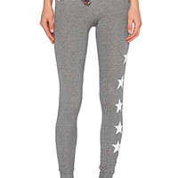 Stars & Hearts Skinny Sweatpant in Heather Grey