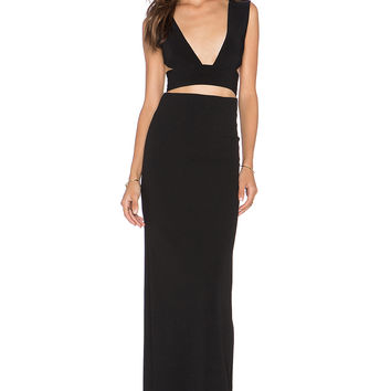 SOLACE London Larina Maxi Dress in Black